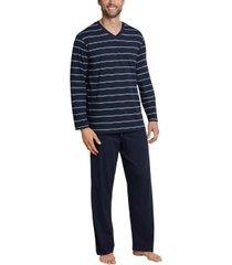 schiesser day and night long stripe pyjama 3xl-5xl * gratis verzending *