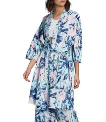 women's adidas originalls tie dye robe, size medium - blue