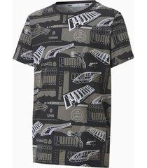 alpha printed t-shirt, zwart, maat 110 | puma