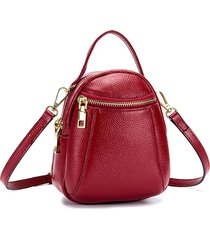 vera pelle pure color 5.5inch phone borsa shoulder borsa crossbody borsas per donne