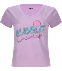 camiseta descanso bubble color morado, talla l