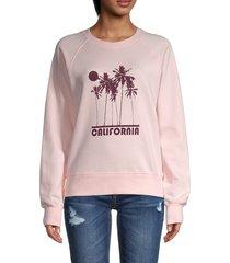 rebecca minkoff women's cali sunset jennings sweatshirt - barely pink - size s