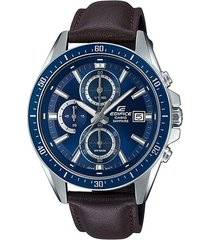 reloj casio efr-s565l-2avudf marrón cuero