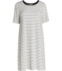 striped a-line day dress