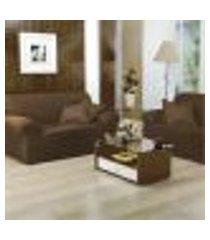 capa para sofá 2 e 3 lugares malha tabaco - vilela