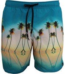 shorts alkary elástico praia azul