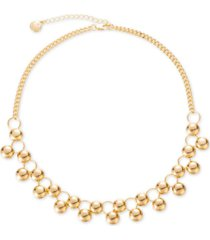 "charter club gold-tone ball statement necklace, 17"" + 2"" extender, created for macy's"