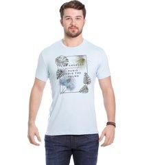 camiseta javali azul palm - kanui