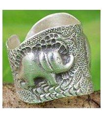silver wrap ring, 'thai couple' (thailand)