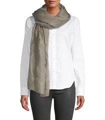 saachi women's textured scarf - light grey