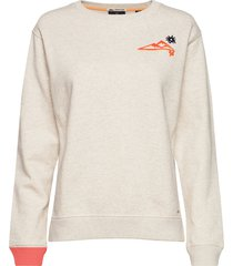 crewneck sweat with various artworks sweat-shirt trui crème scotch & soda