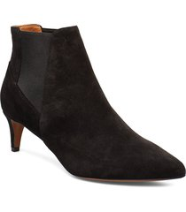 cynara black suede shoes boots ankle boots ankle boots with heel svart atp atelier