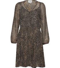 real ls short dress jurk knielengte multi/patroon second female
