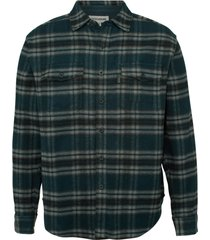 wolverine blake flannel shirt navy plaid, size xxl