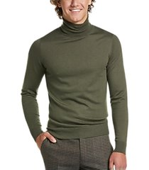paisley & gray slim fit turtleneck sweater olive