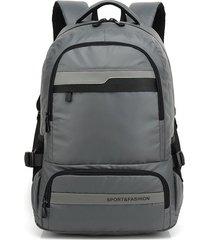 mochila bolso para hombre, de hombro, bolsa de viaje,-gris