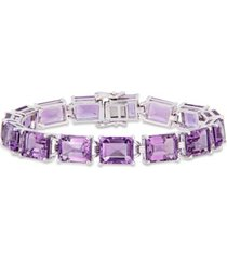 amethyst (45 ct. t.w.) tennis bracelet in sterling silver
