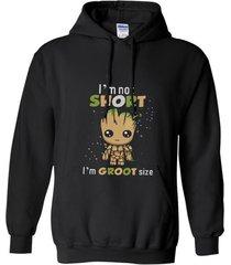 new i_m not short i_m groot size - men_s premium mug t-shirt hoodie
