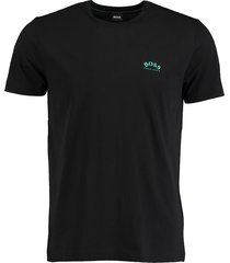 hugo boss t-shirt tee curved zwart 50412363/001