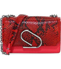 alix python-embossed leather clutch