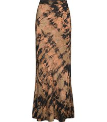 carlotta lång kjol brun rabens sal r