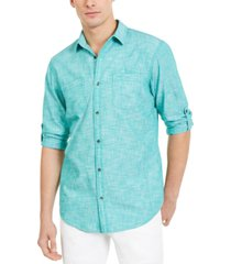 inc men's chambray dual-pocket shirt, created for macy's