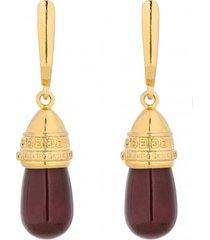 kolczyki pozłacane z perłami swarovski® crystal w kolorze burgund