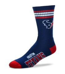 for bare feet houston texans youth 4 stripe deuce crew socks
