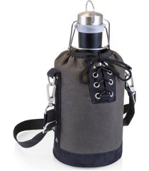 legacy by picnic time insulated growler tote with 64-oz. stainless steel growler