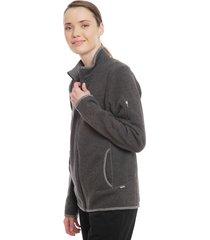 polerón merrell wms flux hw sweater gris - calce regular