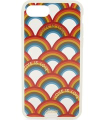 sonix women's love is love rainbow-print iphone 7 case - white multi