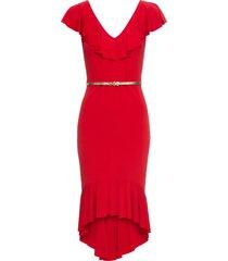 abito da sera con volant (rosso) - bodyflirt boutique
