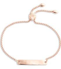 monica vinader engravable havana friendship chain bracelet in rose gold at nordstrom