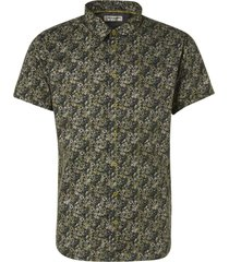 no excess shirt short sleeve all over printed green