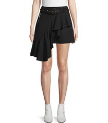 moto ruffled mini skirt