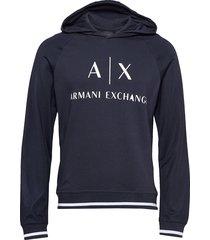 ax man sweatshirt hoodie trui blauw armani exchange