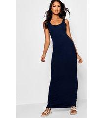 maxi jurk, marineblauw