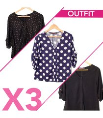 blusa chalis para mujer surtida x3
