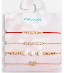 maurices womens heart love pull knot bracelet set