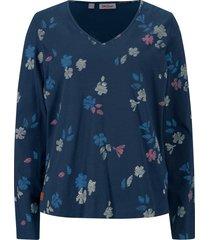 maglia a maniche lunghe in cotone biologico a fiori (blu) - john baner jeanswear