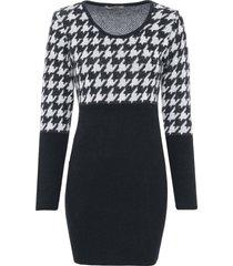 abito in maglia pied de poule (nero) - bodyflirt boutique