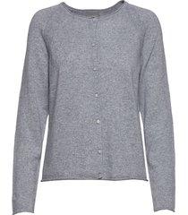 cualaia cardigan stickad tröja cardigan grå culture