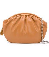 rodo zipped oversized clutch - brown