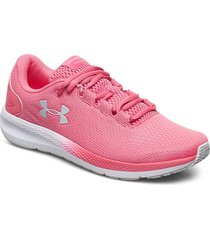 ua w charged pursuit 2 shoes sport shoes running shoes rosa under armour