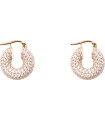 gold-tone earrings