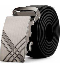 cinturon hombre lujo hebilla automatica e03 - color negro