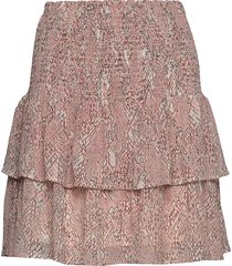 crayon mw short skirt kort kjol rosa second female