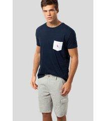 camiseta mr bolso br pica-pau bordado reserva masculina - masculino