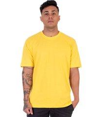 camiseta lucas lunny t shirt gola redonda amarela - amarelo - masculino - algodã£o - dafiti