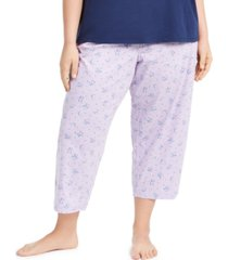 charter club plus size cotton knit cropped pajama pants, created for macy's